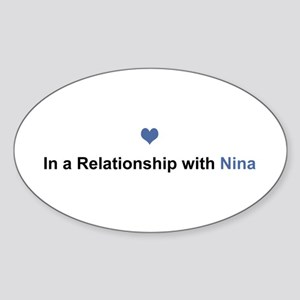 Nina Relationship Oval Sticker