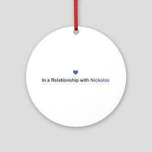 Nickolas Relationship Round Ornament
