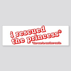 I Rescued The Princess Video Game Shirts Sticker (