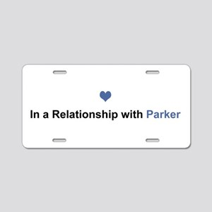 Parker Relationship Aluminum License Plate