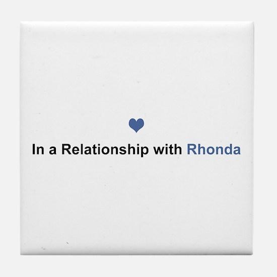 Rhonda Relationship Tile Coaster