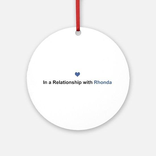 Rhonda Relationship Round Ornament