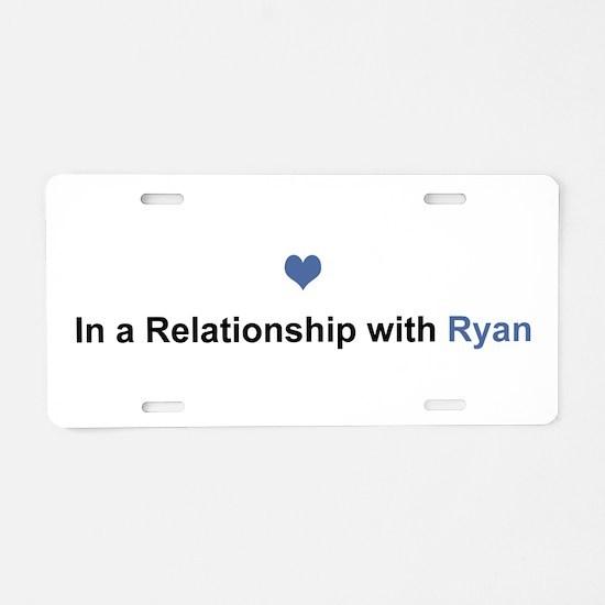 Ryan Relationship Aluminum License Plate