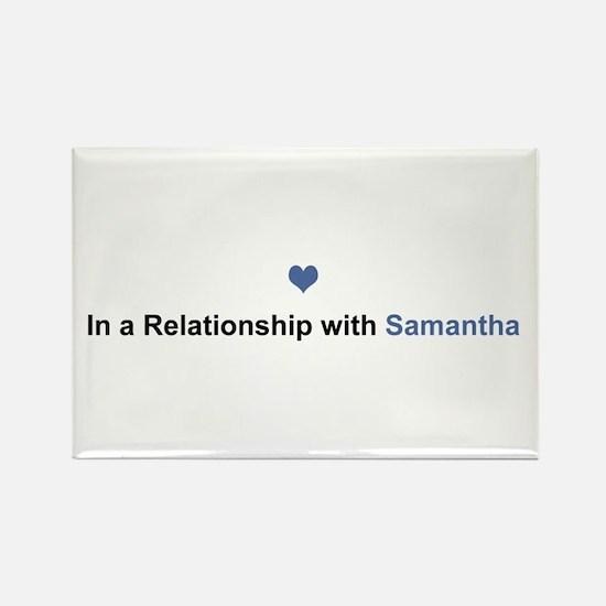 Samantha Relationship Rectangle Magnet