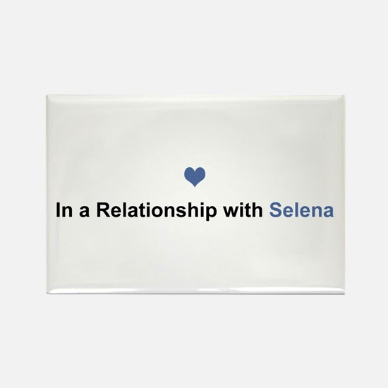 Selena Relationship Rectangle Magnet