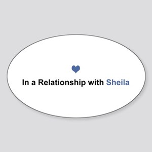 Sheila Relationship Oval Sticker