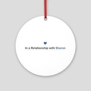 Sharon Relationship Round Ornament