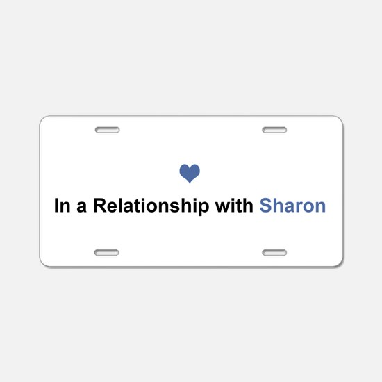 Sharon Relationship Aluminum License Plate