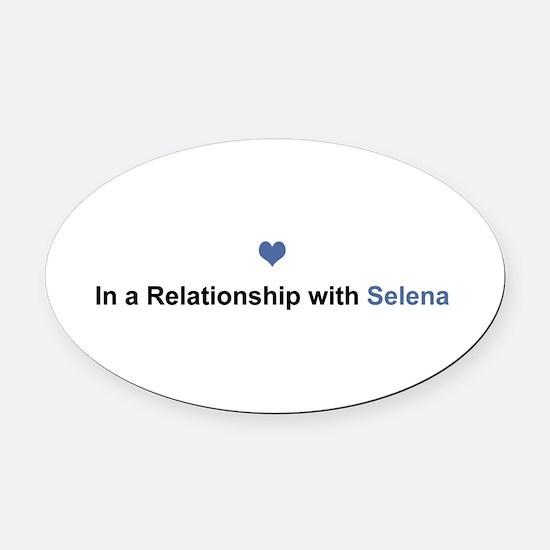 Selena Relationship Oval Car Magnet