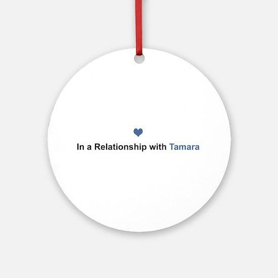 Tamara Relationship Round Ornament