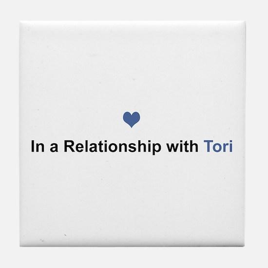 Tori Relationship Tile Coaster