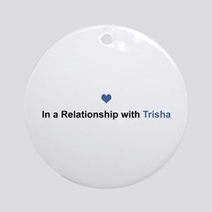 Trisha Relationship Round Ornament