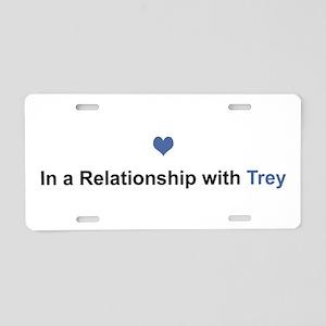 Trey Relationship Aluminum License Plate