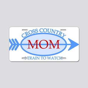 Cross Country Mom Train to Watch Aluminum License