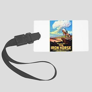 the iron horse Large Luggage Tag