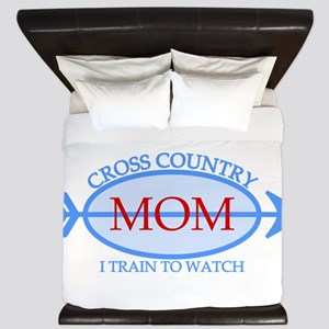 Cross Country Mom Train to Watch King Duvet