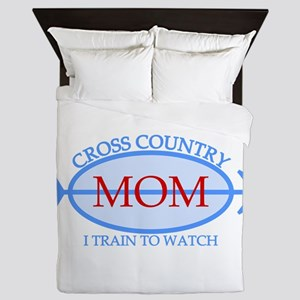 Cross Country Mom Train to Watch Queen Duvet