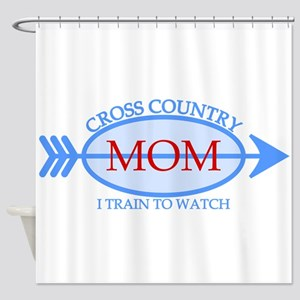 Cross Country Mom Train to Watch Shower Curtain