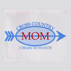 Cross Country Mom Train to Watch Throw Blanket