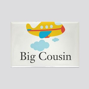 Big Cousin Yellow Airplane Rectangle Magnet