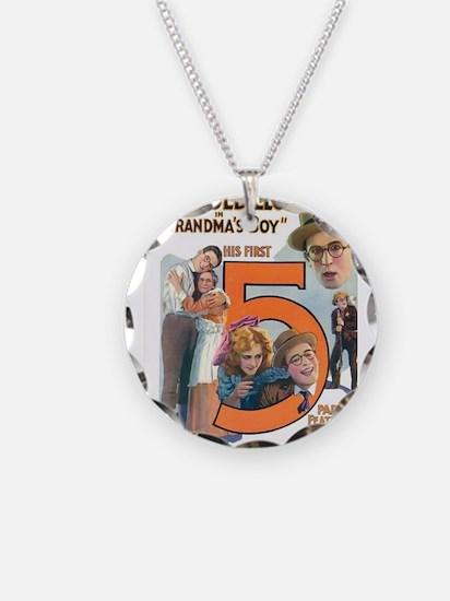 harold lloyd Necklace Circle Charm