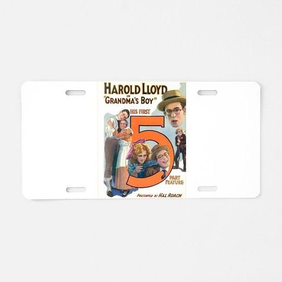 harold lloyd Aluminum License Plate