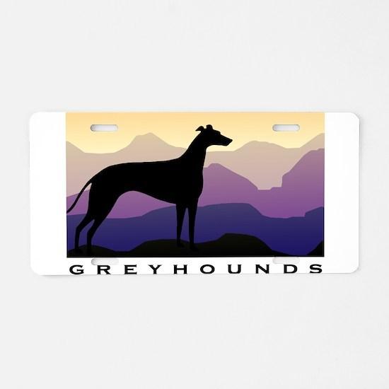 Unique Greyhound Aluminum License Plate