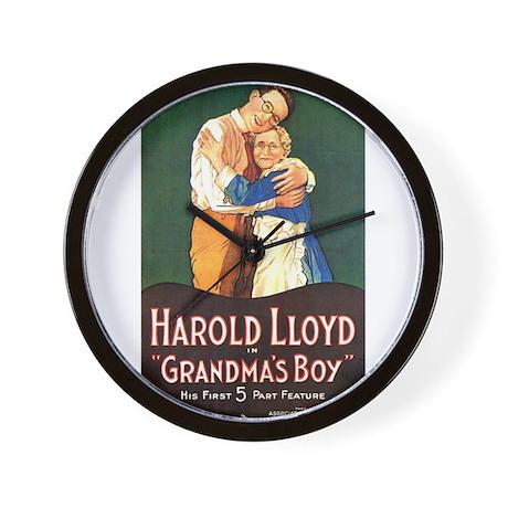 harold lloyd Wall Clock by YesterAds
