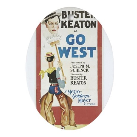buster keaton Ornament (Oval)