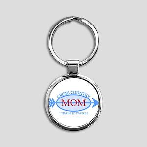 Cross Country Mom Train to Watch Round Keychain