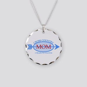 Cross Country Mom Train to Watch Necklace Circle C