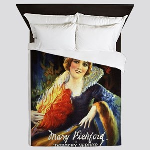 mary pickford Queen Duvet