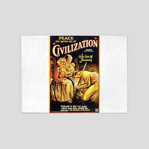 civilization 5'x7'Area Rug