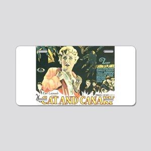 the cat and canary Aluminum License Plate