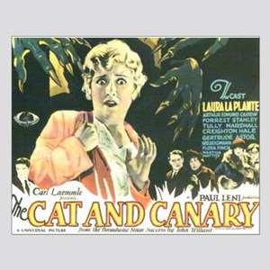 the cat and canary Small Poster