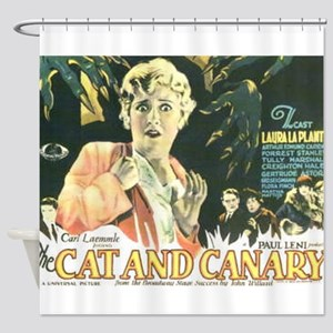 the cat and canary Shower Curtain