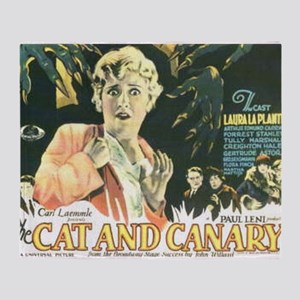 the cat and canary Throw Blanket