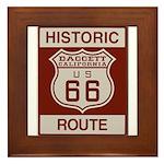 Daggett Route 66 Framed Tile
