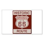 Daggett Route 66 Sticker (Rectangle 50 pk)