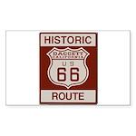 Daggett Route 66 Sticker (Rectangle)