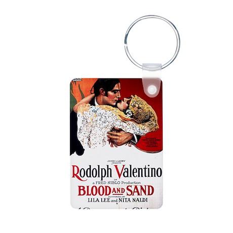 rudolph valentino Aluminum Photo Keychain