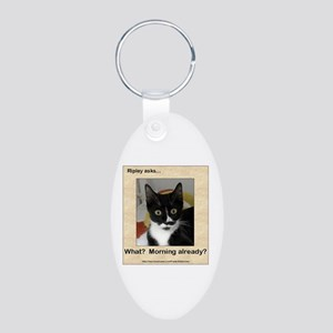 Ripley Asks About Mornings Aluminum Oval Keychain