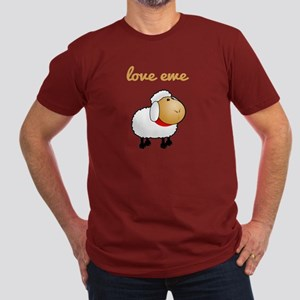 Love Ewe Men's Fitted T-Shirt (dark)