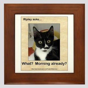Ripley Asks About Mornings Framed Tile