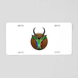 Springbok Trophy Aluminum License Plate