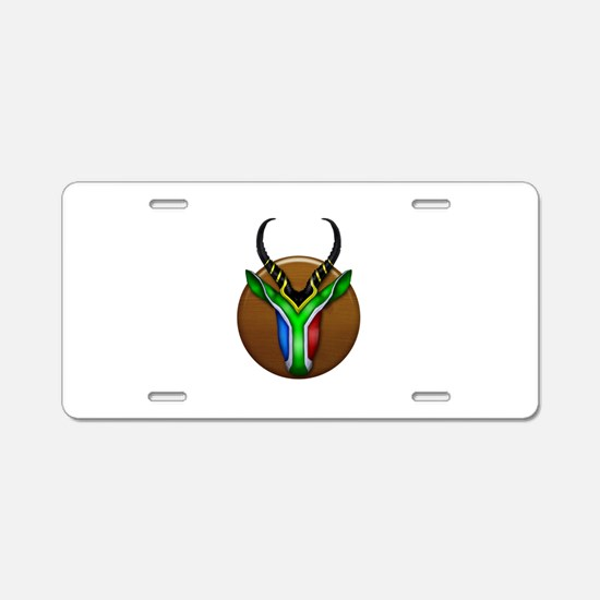 Springbok Trophy Aluminum License Plate