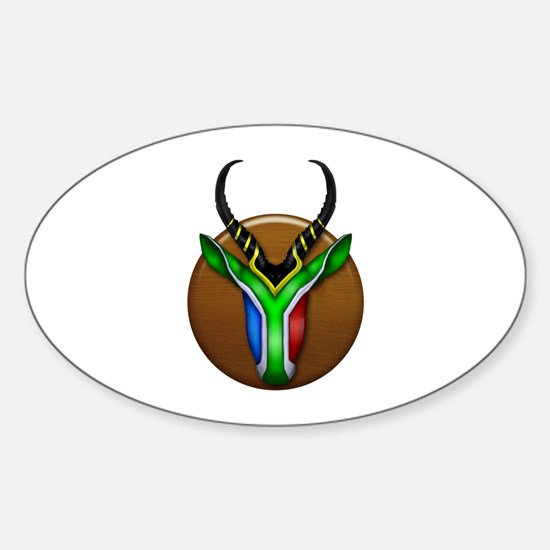 Springbok Trophy Sticker (Oval)