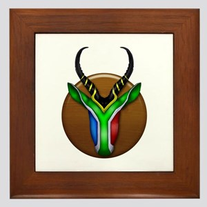 Springbok Trophy Framed Tile