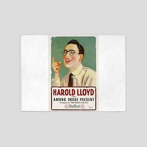harold lloyd 5'x7'Area Rug