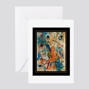African American Blues Greeting Card